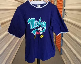 Vintage 90's Mickey Mouse T-Shirt. Adult Size Large.