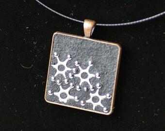 Unique handmade Mosaic Necklace