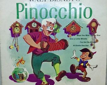 Vintage Vinyl LP, Walt Disney's Pinocchio Disneyland Record, DQ1202, 1959