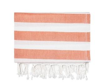 Orange Silk Turkish Towel