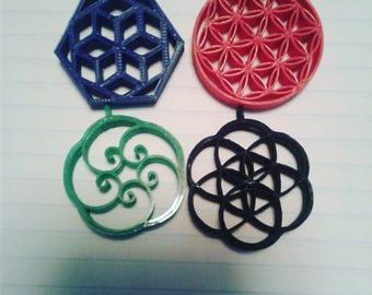 Sacred geometry pendants