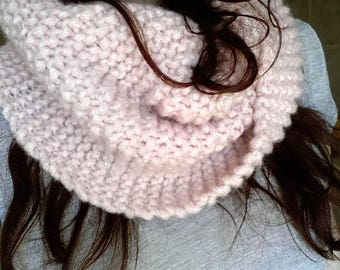 SALE: Scarf snood round neck, knitted handmade - free shipping