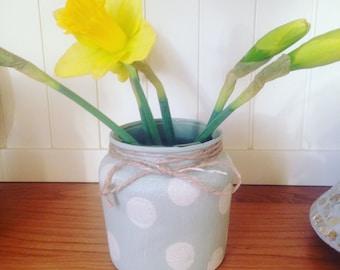 Reclaimed painted jar