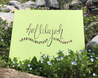 Hallelujah Calligraphy Painting