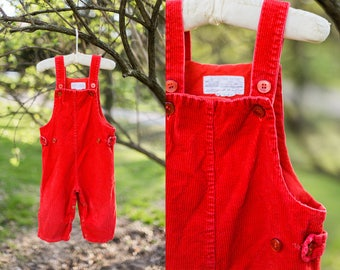 Charley overalls | red corduroy overalls | children's overalls