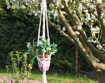 Macrame Plant hanger - Pot hanger - Flower pot holder - indoor plant hanger