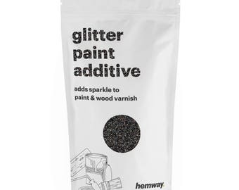Hemway Glitter Paint Crystals Additive 100g for Emulsion - Black Holographic