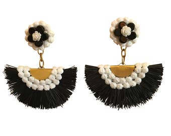 Retro Fan Shoulder Duster Earrings