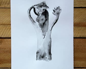 "Original drawing ""Homage to Blossfeldt VII"" / ink and graphite"