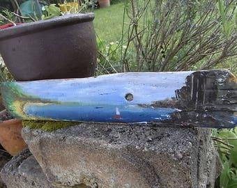 Driftwood Art, seascape, 45x8cm