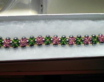 Reversible Pearl and Crystal bracelet