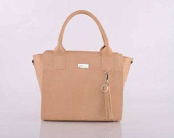 Natural Anna Messenger Bag