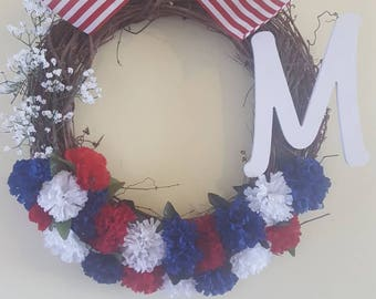 Summer holiday wreath