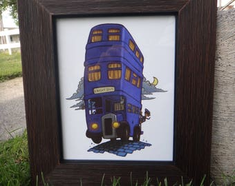 The Knight Bus Art Print, Harry Potter Art, Harry Potter Print, Harry Potter Nursery, Harry Potter Gift.