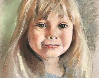 "Crayon Fine Art Portraits 9 1/2"" x 12"""