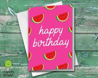Happy Birthday Melons Greeting Card - Birthday, Friend, Family, Cool, Peabody Studio Card