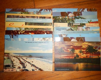 1930s Stamped Vintage Florida Postcard - Design May Vary