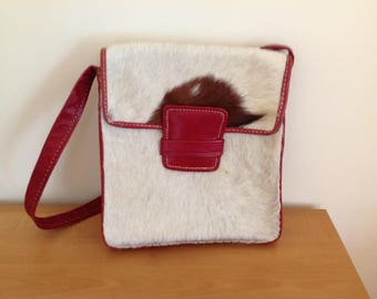 Vintage leather bag from 1960s/1970s.