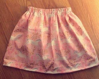 The 'unicorn' hand stitched skirt