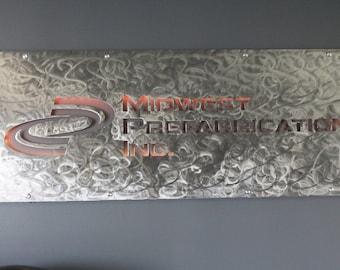 Custom Industrial Steel Sign