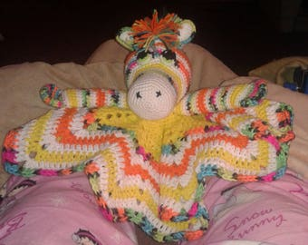 Rainbow Zebra Lovey