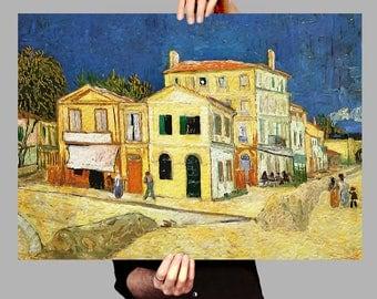 Poster 50x70 cm Yellow House - Vincent van Gogh Digital