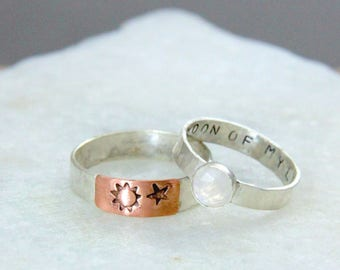 Moon of My Life Ring.  Dothraki Ring. Faceted Moonstone Ring. Hammered Silver.  Rustic Ring.  Game of Thrones Jewelry.