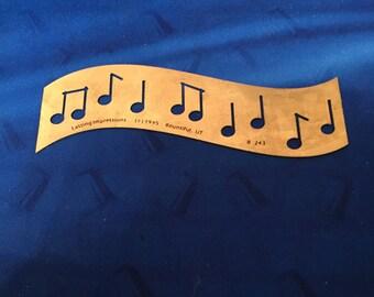 Lasting Impressions BRASS Stencil Music Notes