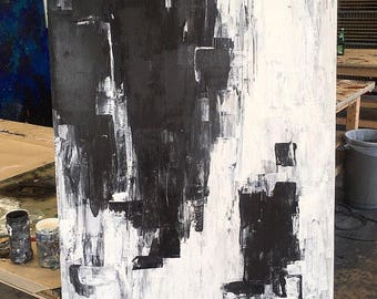 Abstract Painting - Black and White