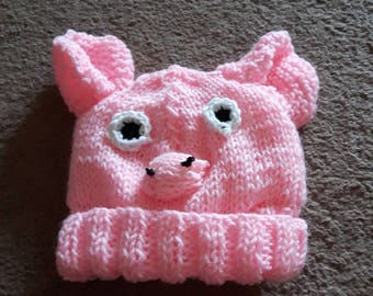 Pig Hat (child size)