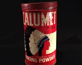 Vintage CALUMET Baking Powder Collectible Tin