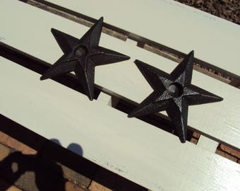 Metal Stars, Candle Holders, Rustic Stars,