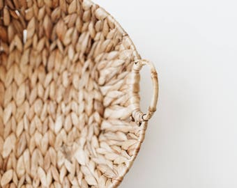 Vintage Woven Basket with Handles
