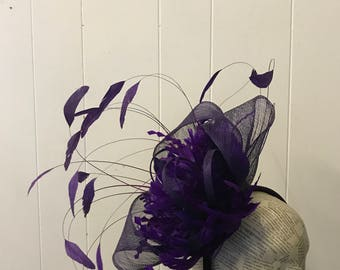 Purple fascinator  Celestia
