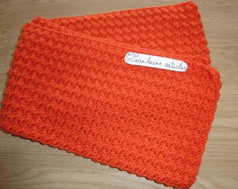 Red scarf Orange