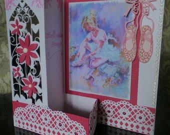 Female Birthday card with Ballerina Pink Z card
