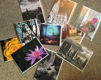 Pack of 5 blank greetings cards