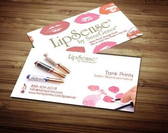 LipSense Business Card Design 1