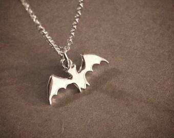 Tiny Bat - Sterling Silver