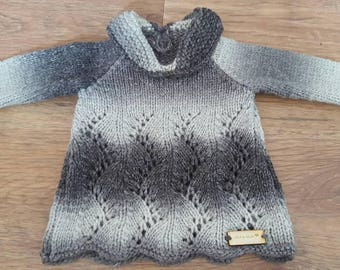 hand knitted girls aran dress A Line