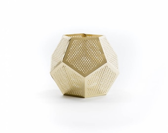 Gold Pentagon Candle Holder