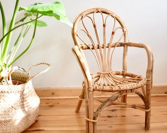 Rattan kids chair