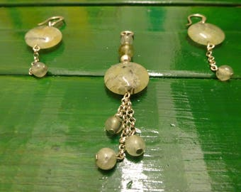 Set silver and prehnite