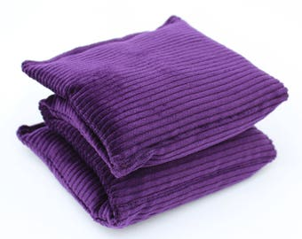 Wheat Heat Pack/Bag-4 Sectioned Purple