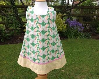 Pretty A-line dress, summer dress, butterfly print dress