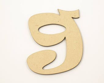 7.5cm MDF Wood Wooden Letters 3mm Thick RAVL