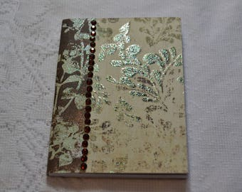 "Altered mini 3.5""x 4.5"" Composition Book - Pocket notebook"