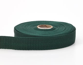 "Polypropylene webbing, 1.5"" Wide, 10 yds, Dark Green"