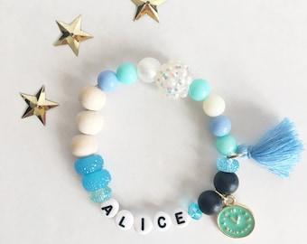 Personalized Alice In Wonderland Bracelet, Disney Jewelry, Disney Bracelet, Alice, Mad Hatter