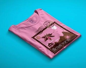 t-shirt girl - teen - pink - mini shopper - button - pin - sensory journeys - star anise - dream - handmade - gift idea - kokoronaif tees